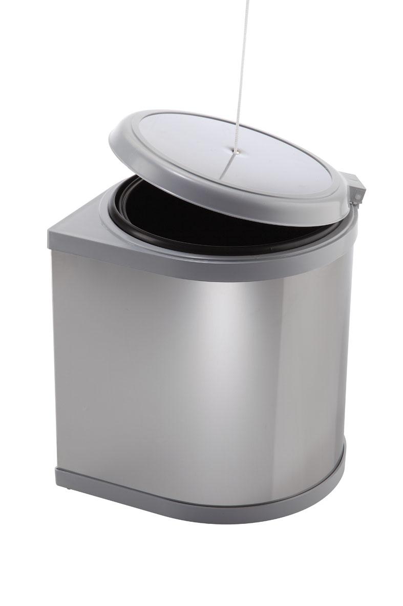 Pattumiera automatica per anta cucina in palstica ed inox for Pattumiere per cucina
