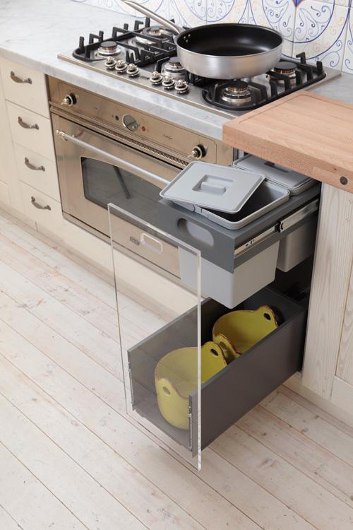 Pattumiera estraibile sotto piano per base cucina modulo - Pattumiere per cucina ...