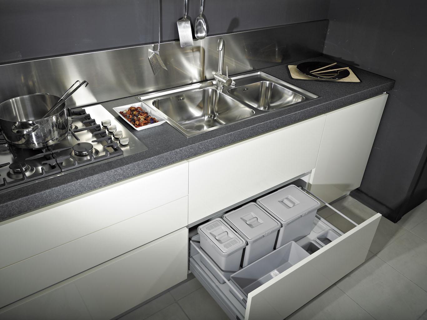 Pattumiera per cassetto cucina ecologica modulo 120cm - Pattumiere per cucina ...
