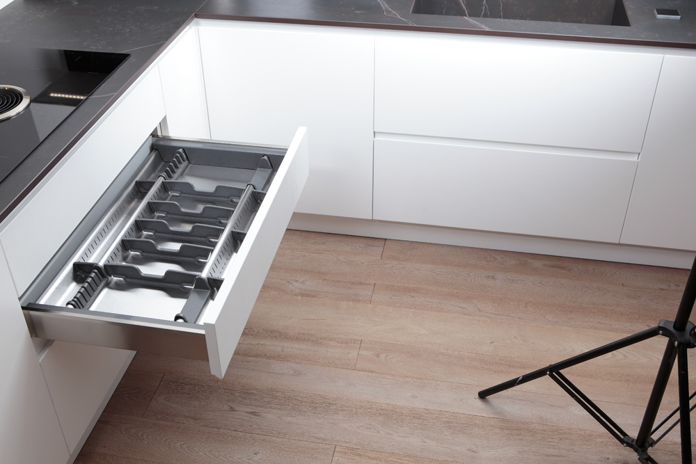 Portaposate da cassetto in acciaio inox adattabile - Pattumiere per cucina ...