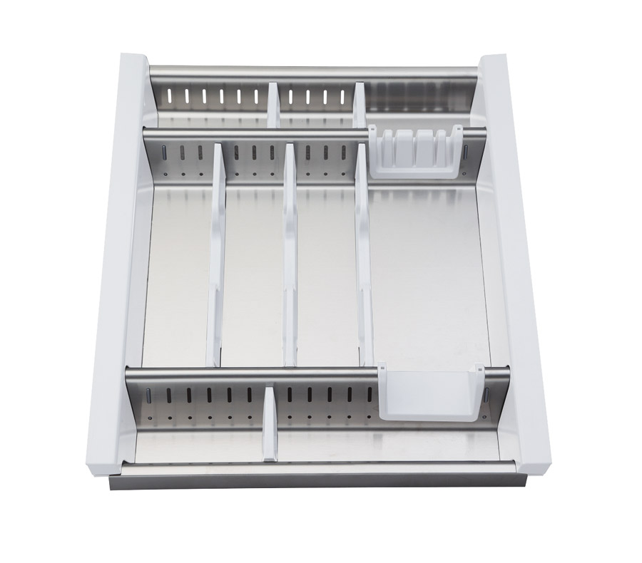 Portaposate da cassetto in acciaio inox adattabile modulo 45cm ebay - Porta posate da cassetto ...